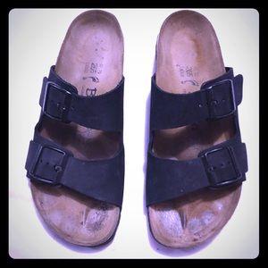 Birkenstock Betula two strap black unisex sandals